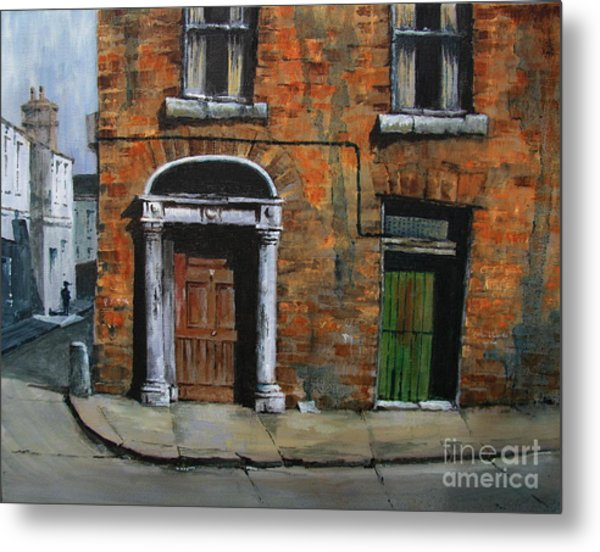 Metal Print featuring the painting 775 Decaying Elegance In The Liberties, Dublin by Val Byrne