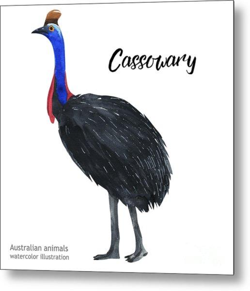 Australian Animals Watercolor Metal Print by Kat branches