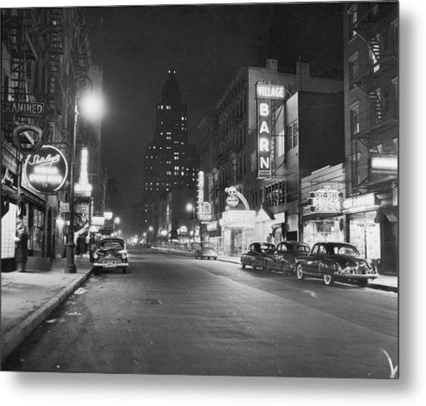 8th Street At Night, 1950 Metal Print