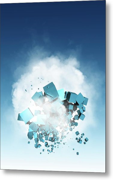 Cloud Computing, Conceptual Artwork Metal Print by Victor Habbick Visions