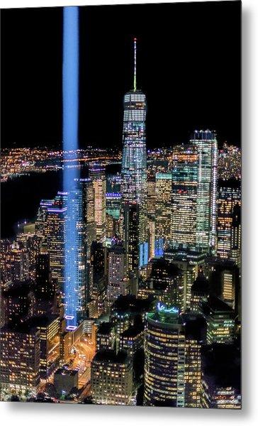 911 Lights Metal Print