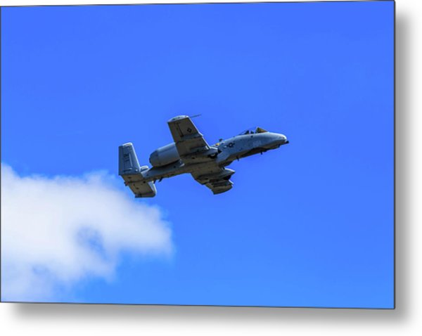 Metal Print featuring the photograph A-10c Thunderbolt II In Flight by Doug Camara