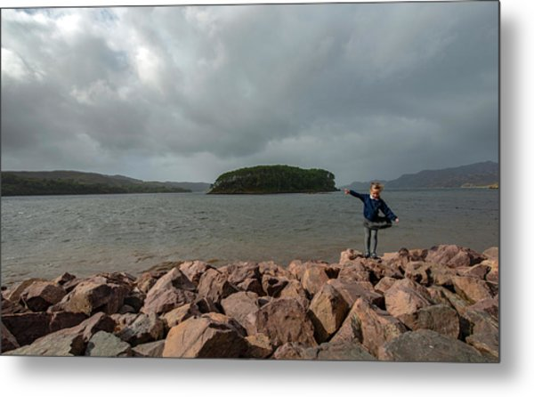 A Charming Little Girl In The Isle Of Skye 1 Metal Print