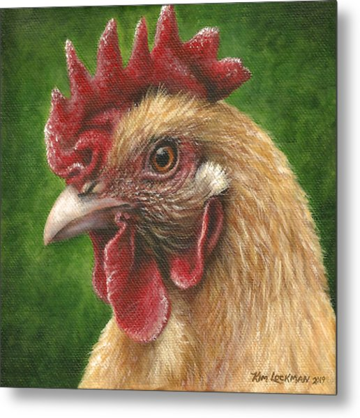 A Chicken For Terry Metal Print