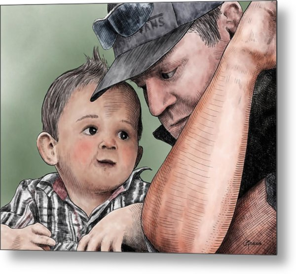 A Conversation With Daddy  Metal Print