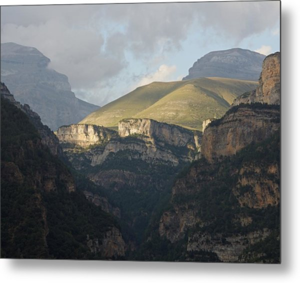 Metal Print featuring the photograph A Dash Of Light In The Canyon Anisclo by Stephen Taylor
