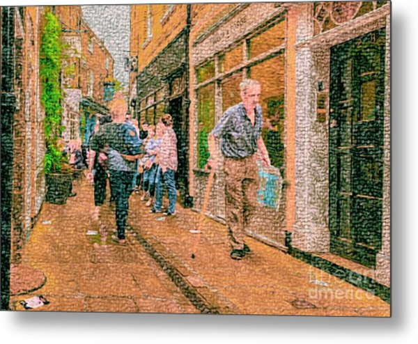 A Day At The Shops Metal Print