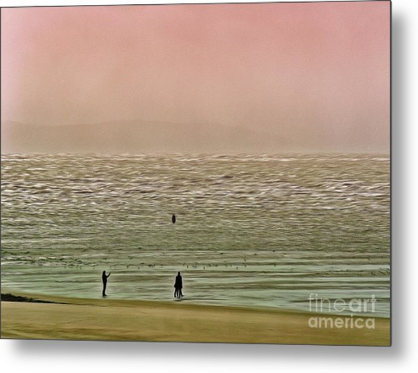 Metal Print featuring the photograph A Distant Shore by Leigh Kemp
