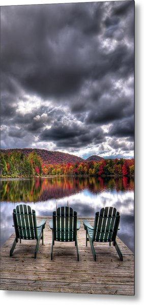 Metal Print featuring the photograph A Fall Day On West Lake by David Patterson