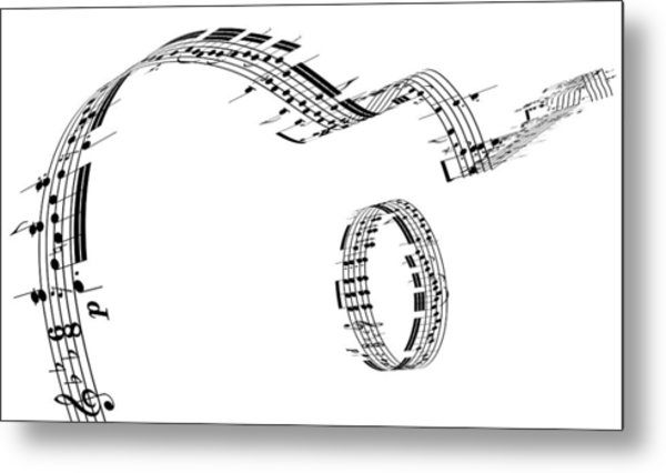 A Guitar Made Of Music Notes Metal Print by Ian Mckinnell