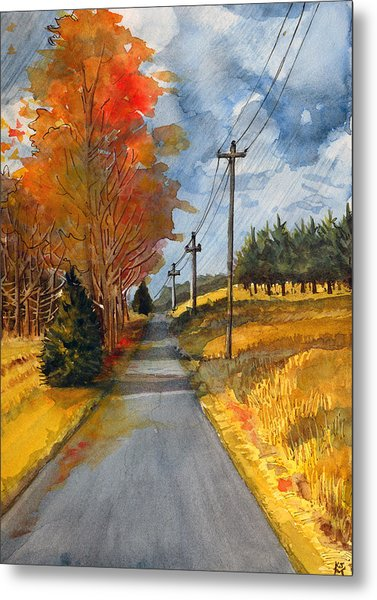 A Happy Autumn Day Metal Print