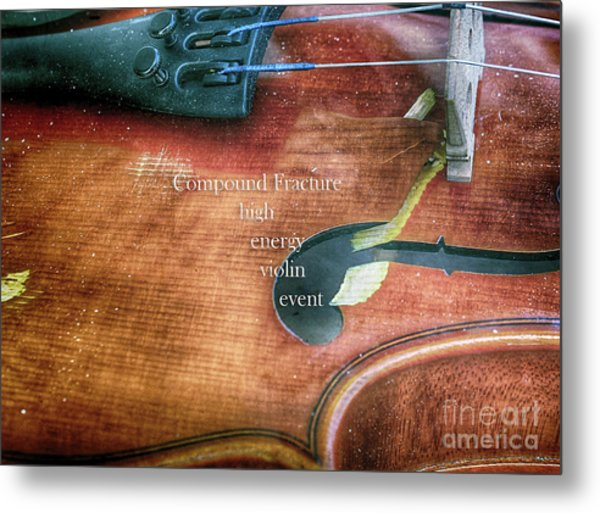 A High Engery Violin Event  Metal Print by Steven Digman