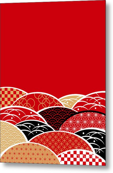 A Japanese Style Background Of Japan Metal Print by Rie Sakae