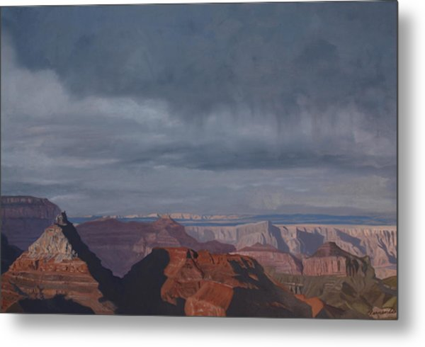 A Little Rain Over The Canyon Metal Print