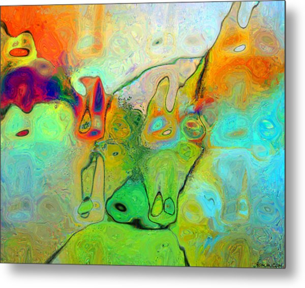 Metal Print featuring the digital art A Message For Miro by Rein Nomm