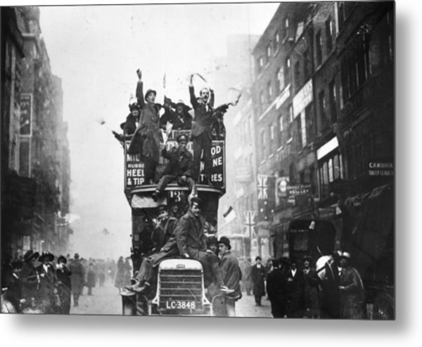 A Peace Bus Metal Print by Topical Press Agency