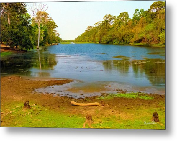 A Pretty Place To Rest In Cambodia Metal Print