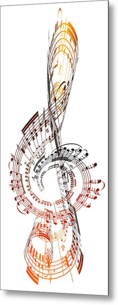 A Treble Clef Made From Sheet Music Metal Print by Ian Mckinnell