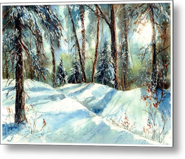 A True Winter Wonderland Metal Print