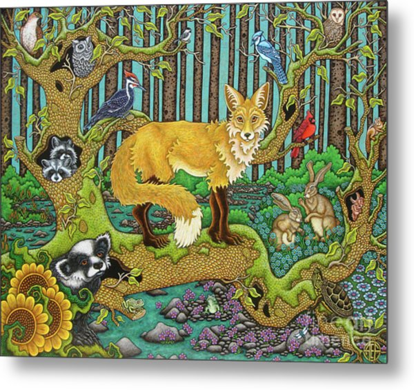 A Vixen In The Forest Metal Print