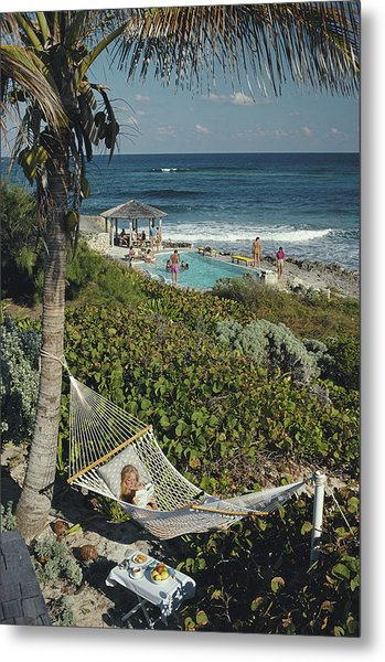 Abaco Holiday Metal Print by Slim Aarons