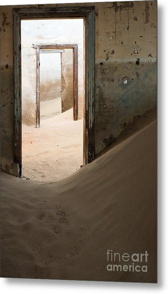 Abandoned Building Being Taken Over By Metal Print