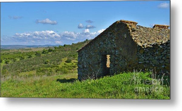 Abandoned Cottage In Alentejo Metal Print