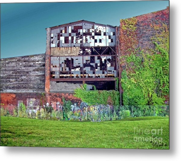An Abandoned Factory In Detroit Metal Print