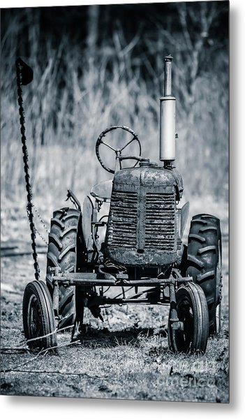 Abandoned Old Farm Tractor Metal Print