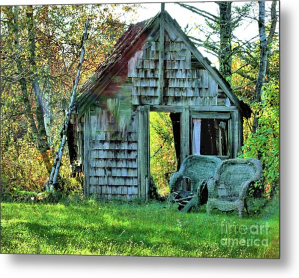 Abandoned Shack Metal Print