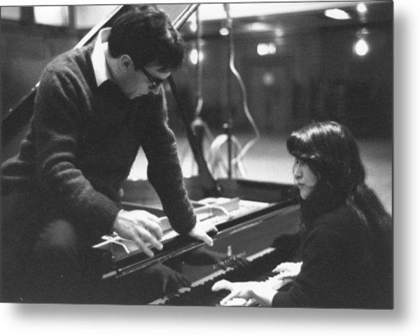Abbado On Piano Metal Print by Erich Auerbach