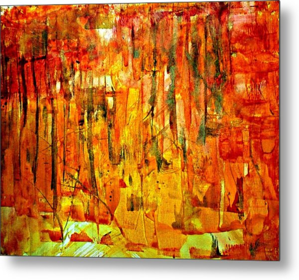 Metal Print featuring the painting Ablaze by 'REA' Gallery