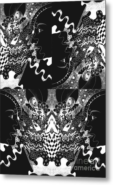 About The I In The Sky - Night Vision Metal Print