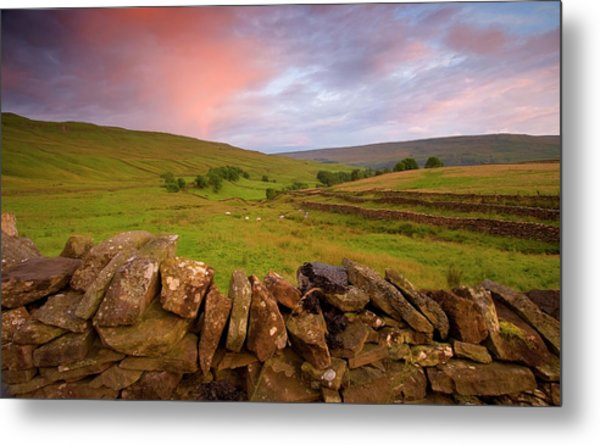 Above Kettlewell After Sunset Metal Print by Pixelda Picture License