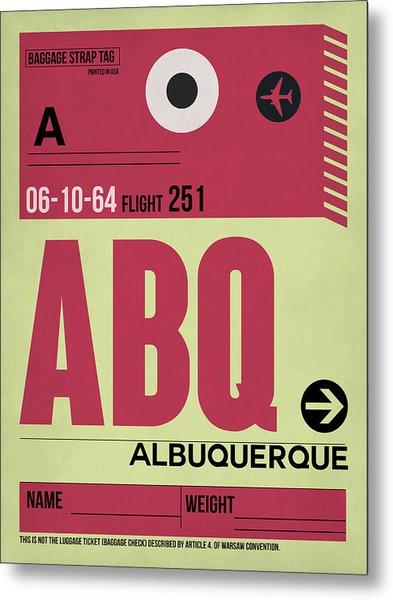 Abq Albuquerque Luggage Tag II Metal Print