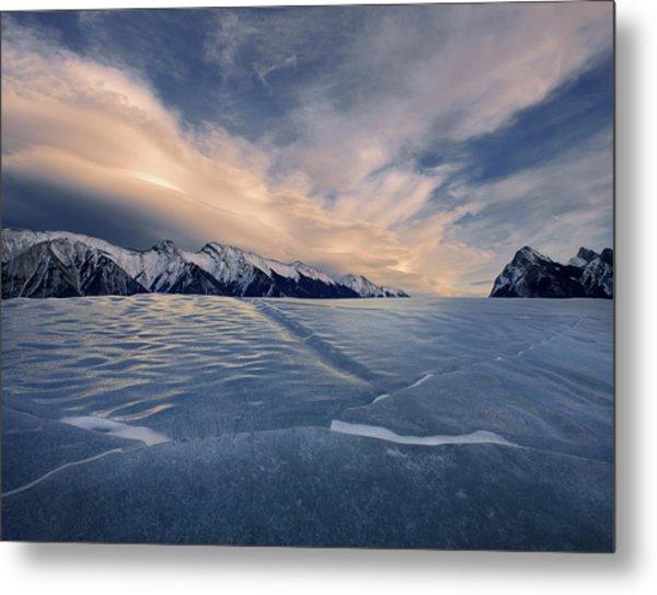 Abraham Lake Ice Wall Metal Print