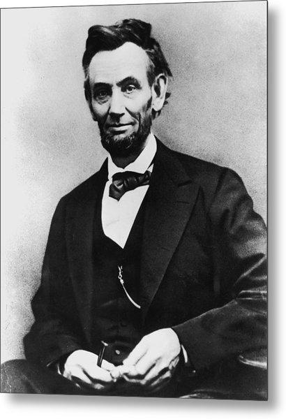 Abraham Lincoln Portrait Metal Print by Alexander Gardner