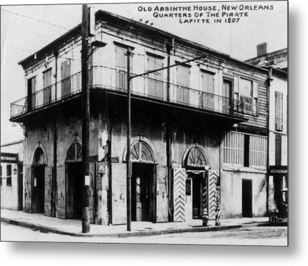 Absinthe House Metal Print by General Photographic Agency