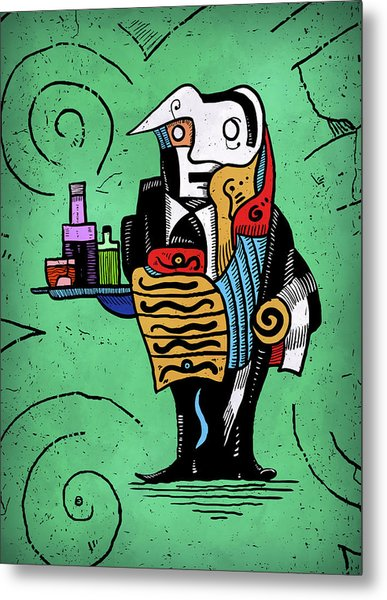 Metal Print featuring the painting Absinthe by Sotuland Art