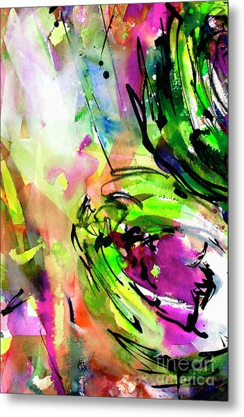 Abstract Arti 3 By Ginette Metal Print