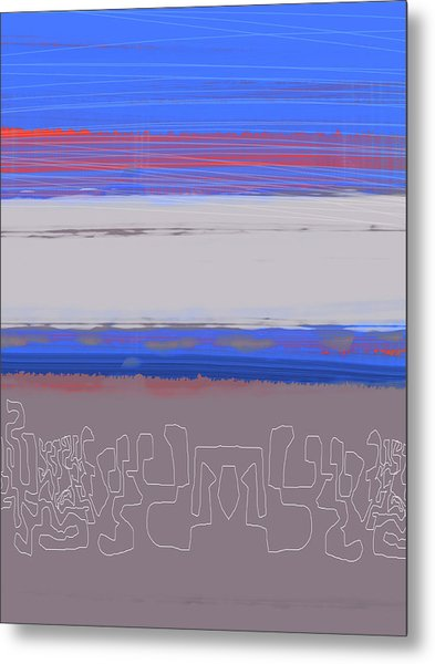 Abstract  Blue View 1 Metal Print