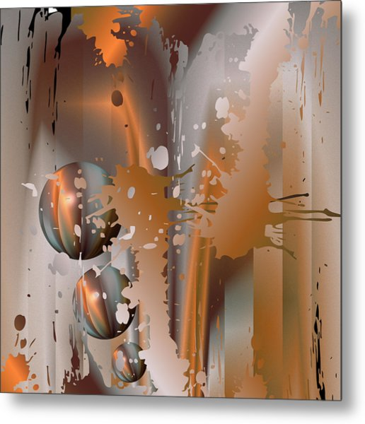 Abstract Copper Metal Print