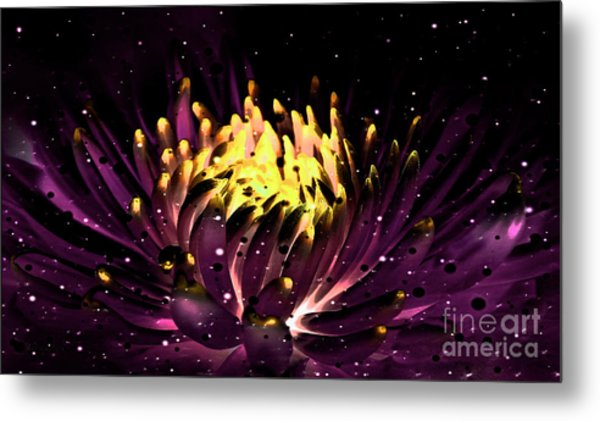 Abstract Digital Dahlia Floral Cosmos 891 Metal Print
