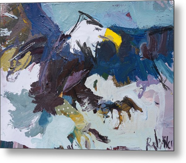 Abstract Eagle Painting Metal Print