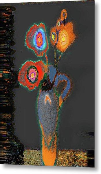 Abstract Floral Art 367 Metal Print