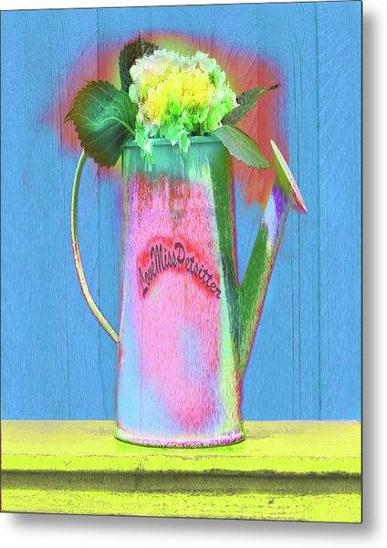 Abstract Floral Art 377 Metal Print
