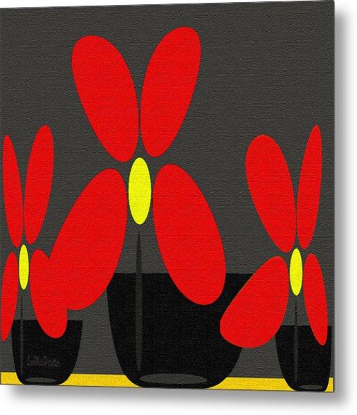 Abstract Floral Art 393 Metal Print