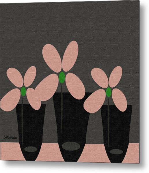 Abstract Floral Art 394 Metal Print