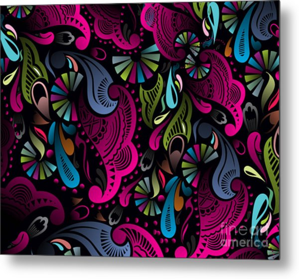 Abstract Floral Pattern, Highly Metal Print
