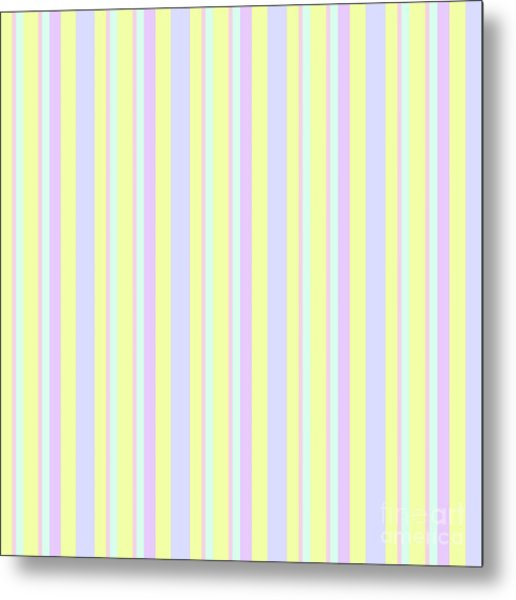 Abstract Fresh Color Lines Background - Dde595 Metal Print